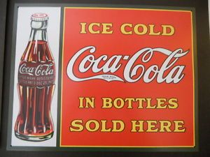 Coca Cola Sign Bottle Fountain Drink Service Store Advertising Cigar New Old Can