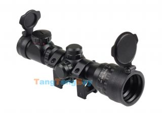 Tactical Reflex 2 6x32 Red Green Mil Dot Sight Rifle Scope Picatinny Rail Mount