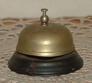 Vintage Counter Top Bell General Store Hotel Service Front Desk Metal Steel Tin