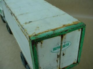 Vintage Alpha Beta Tractor Trailer Truck Large Collectible Toy