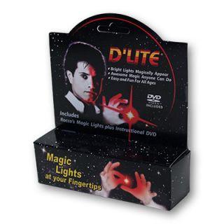 D'Lite Bonus Pack Red Pair Instructional DVD Magic Trick Light from Anywhere