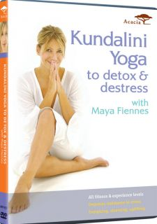 Maya Fiennes Kundalini Yoga to Detox Destress Movement Chants Mantras DVD 054961935796
