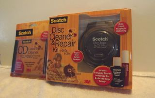 Scotch Disc Cleaner Repair Kit for CDs DVDs Plus CD Laser Lens Cleaner