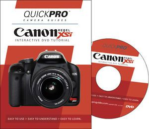 Canon EOS Digital Rebel XSi 450D Instructional DVD Camera Guide Manual Tutorial