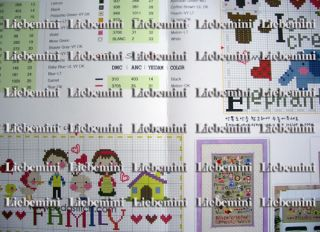 "SO73 "" Alphabet Learning "" Lovely Cross Stitch Pattern"