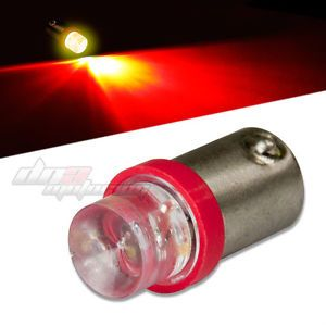8mm Round LED T10 BA9S T4W 1895 Bright Red Interior Dome Light Bulb Lamp Bulbs