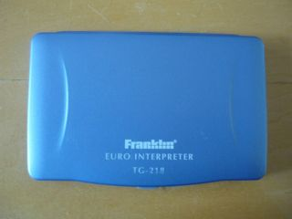 Franklin TG 218 11 Language European Electronic Translator Interpreter More