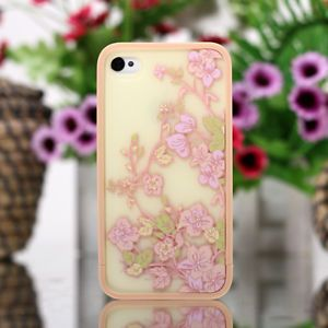 Fashion Beautiful Camellia Flower Cover Skin Case for iPhone 4 4G 4S