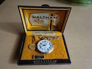 A Vintage 1950's Waltham 17 Jewel Railroad Pocket Watch with Case