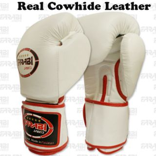 Professional Cowhide Leather Sparring Boxing Gloves Boxing Mitts Real Leather