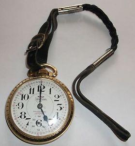 Waltham 25 Jewel Size 16S Railroad Pocket Watch 10K Rolled Gold Plate Case Runs