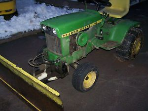 John Deere 140 Lawn Garden Tractor with 4 Way Snow Plow
