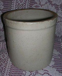 Old Vintage Antique Primitive Stoneware Crock Kitchen Tool