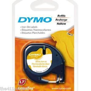 4pk Dymo LetraTag Iron on Fabric Label Tapes for Letra Tag Lt QX50 Labelmakers