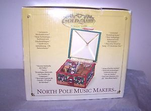 Mr Christmas Gold Label North Pole Music Makers Music Box Santa's Workshop New