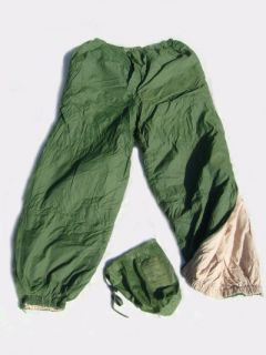 British Army Softie Trousers C w Stuff Sack s M L XL