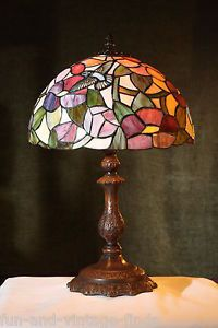 1 Stained Glass Tiffany Style Lamp Desk Hummingbird Lighting Table Lamp Light