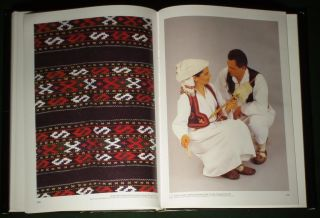 RARE Book Croatian Folk Costume Ethnic Dress Balkan Fashion Hungary Bosnia Vest