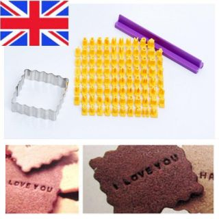 Alphabet Letters Numblers Cookie Biscuit Cutter Stamp Embosser Cake Decorating