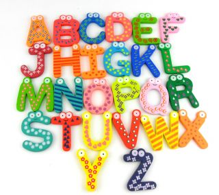 Wooden Fridge Magnet Alphabet Number Kids Educational Toy Baby Gift 2 Styles