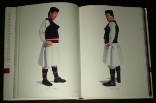 Huge Book Greek Folk Costume Macedonian Ethnic Dress Embroidery Headdress Balkan