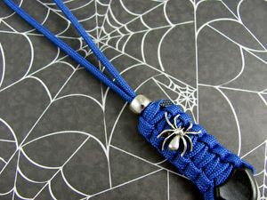 1 Paracord Spider Lanyard for Spyderco Knives Gear 47 Colors Custom Made New