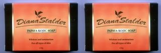2 Pcs Diana Stalder Papaya Kojic Whitening Soap 240g