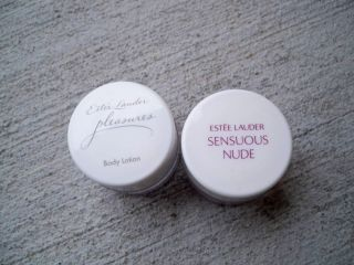 2 Estee Lauder Lotions Sensuous Nude 1 oz Pleasures 1 Oz