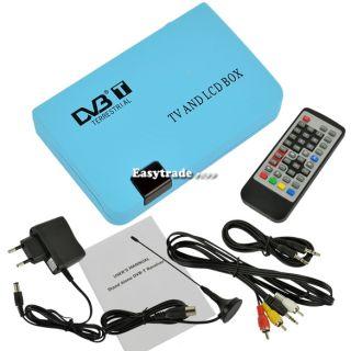 ESY1 Digital TV Box LCD VGA AV Tuner DVB T Free View Receiver Converter EU Plug