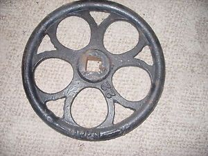 Vintage Antique Coffee Corn Grits Grain Grinder Mill Wheel