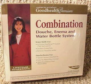 NIP Combo Douche Enema Water Bottle Bag System