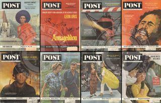 Lot of 8 Saturday Evening Post Magazines 1963