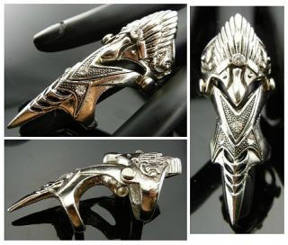 Punk Emo Biker Goth Bird Tattoo Armor Claw Ring TF102