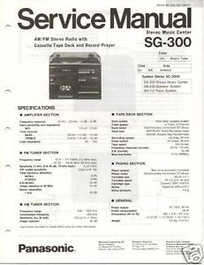 Original Service Manual Panasonic SG 300 System