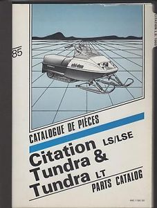1985 Ski Doo Citation Tundra Tundra Lt Snowmobile Parts Manual