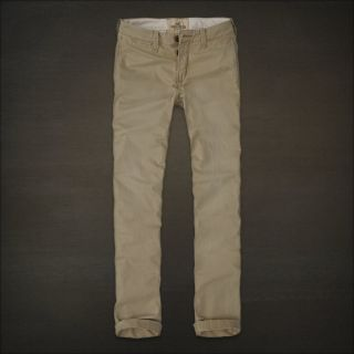 Hollister HCO Skinny Chino Khaki Pants New Stone Men's 32x30