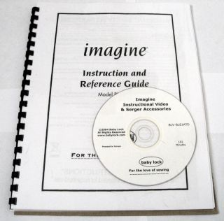 Babylock Baby Lock Serger BLE1AT Imagine Video Instruction Manual