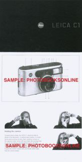 Leica C1 Instruction Manual English German