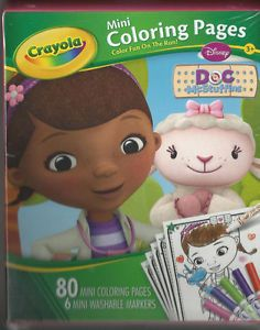 Doc McStuffins Crayola 80 Mini Coloring Pages with 6 Mini Washable Markers