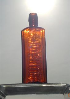 Antique Amber Bitters Bottle Marshall's Bitters 1890'S