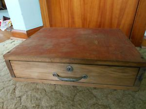 Antique Indiana Cash Drawer Solid Wood Country Store Register Bell GC 1920s
