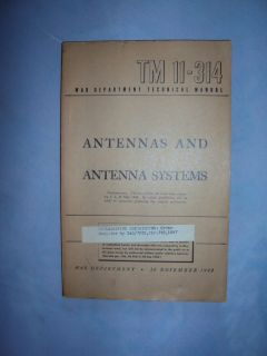 Three War Department Technical Manuals Antennas Radar System Electronics