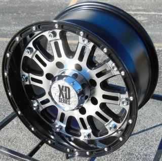 "17"" Black Machined XD Hoss Wheels Rims Chevy Tahoe Suburban GMC Sierra Silverado"