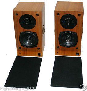 KEF Reference Series Model 101 Type SP1122 Stereo Bookshelf Speakers Monitors