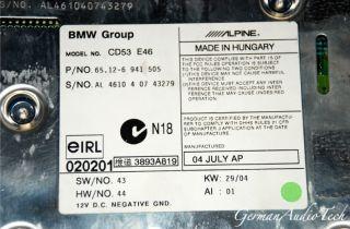 BMW E46 Business CD Player Radio Stereo Am FM CD53 320 325 328 330 M3 HK Alpine