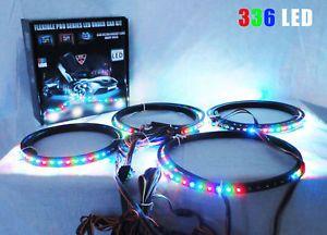 7 Color Undercar LED Kit Remote Under Car Lights Neons