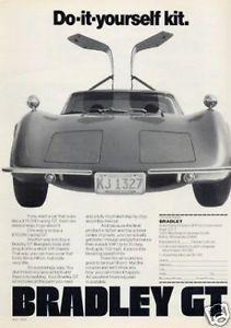 1974 Bradley GT Kit Car Original Vintage Ad