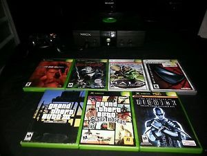 Xbox Console Original with 7 Games Halo GTA San Andreas Riddick Blood Omen 2