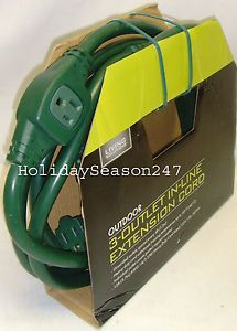 Living Solutions Outdoor 3 Outlet in Line 12' ft Heavy Duty Extension Power Cord