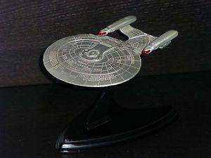 Star Trek TNG USS Enterprise NCC 1701 D Franklin Mint Pewter Nice